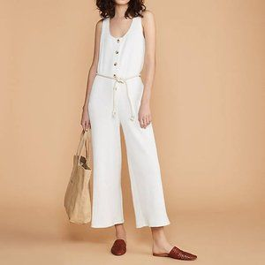 Lou & Grey Ribbed Button Jumpsuit